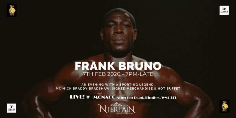 An Evening with Frank Bruno MBE, Former WBC Boxing World Champion